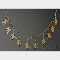 Unique Artist-designed 18kt Gold Surrealist Necklace/Belt, Bill Copley (1919-1996)