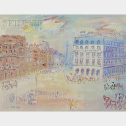 Jean Dufy (French, 1888-1964)      Place de l'Opéra et rue de la Paix