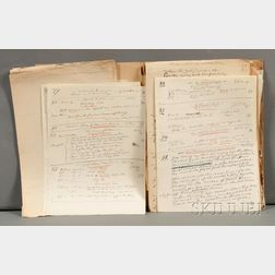 Vedder, Elihu (1836-1923) Original Correspondence, c. 1915.
