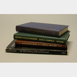 Four Volumes of Violin Related Literature