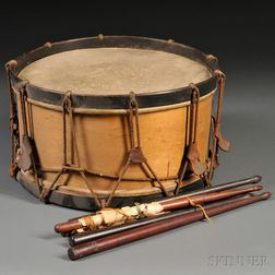 Drum and Two Pairs of Sticks