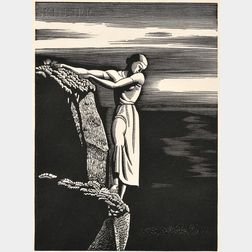 Rockwell Kent (American, 1882-1971)      Girl on Cliff