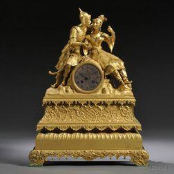 French Orientalist Dore Bronze Mantel Clock