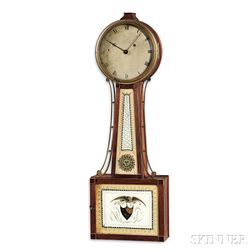 "Simon Willard Reeded-front Patent Timepiece or ""Banjo"" Clock"