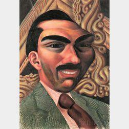 Miguel Covarrubias (Mexican, 1904-1957)      Portrait of a Man (Possibly Miguel Alemán Valdés)