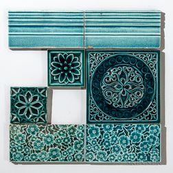 Seven J. & J.G. Low Art Tile Works Art Pottery Tiles