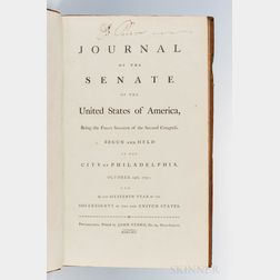 Journal of the Senate of the United States of America, Being the First Session of the Second Congress.