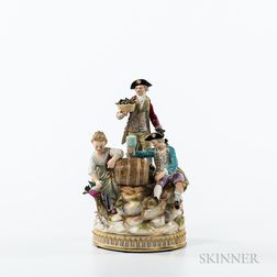Meissen Porcelain Wine Drinking Group