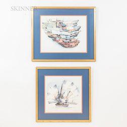 Two Aquatint Prints