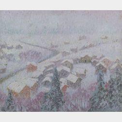 William Samuel Horton (American, 1865-1936)    View of Gstaad