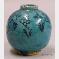 Iranian Turquoise Glazed Vase