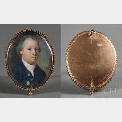 Henry Pelham, After John Singleton Copley (American, 1749-1806)      Portrait Miniature of Adam Babcock.