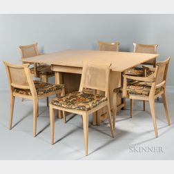 Edward Wormley Extension Dining Table and Six Chairs for Dunbar