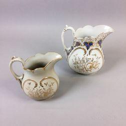 Two Bennington Ceramic Pitchers