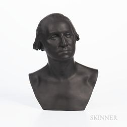Wedgwood Limited Edition Black Basalt Bust of George Washington