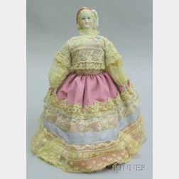 Tinted China Molded Shoulder Head Doll