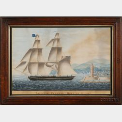 Attributed to Filberto (Neapolitan, Early 19th Century)      The Brig Asia Leaving Palermo Dec'r 25th 1827.