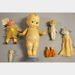 AM Googlie and Six Miscellaneous Dolls