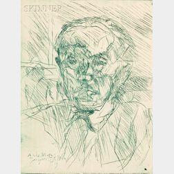 Jacques Villon (French, 1875-1963)      Portrait de P. de Massot