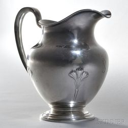 Arthur Stone Sterling Silver Water Pitcher