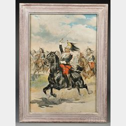 French Cuirassier Officer Print by Edward Detaille