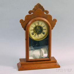 E. Ingraham & Co. Walnut Shelf Clock