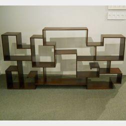 Hardwood Display Shelf Unit