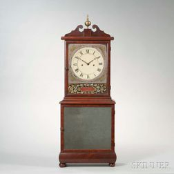 Mahogany Eglomise Shelf Clock