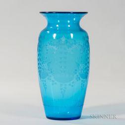 Hawkes Decorated Vase