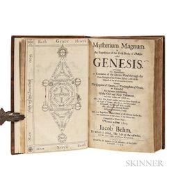 Böhme, Jakob (1575-1624) Mysterium Magnum; [bound with] Durant Hothams (1617-1691) The Life of Jacob Behmen; [and] Böhmes Four Tables