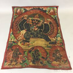Thangka Depicting Mahakala