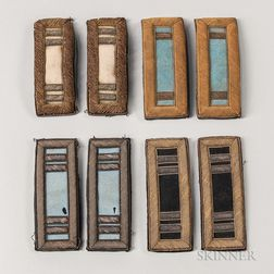Four Pairs of Civil War-era Officer's Shoulder Straps