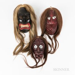 Three Northeast Painted Masks