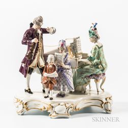 Meissen Porcelain Music Lesson Group