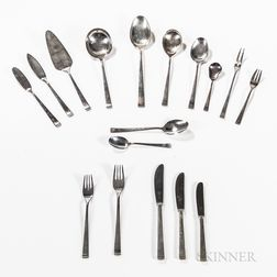 Gebruder Reiner .800 Silver Flatware Service