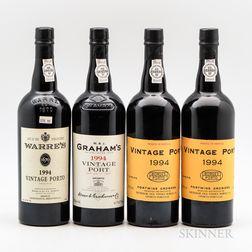 1994 Vintage Port, 4 bottles