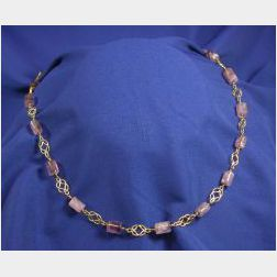 18kt Gold and Amethyst Necklace