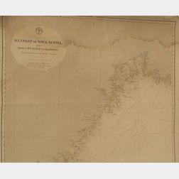 Nine Sea Charts from the Stonewall Jackson