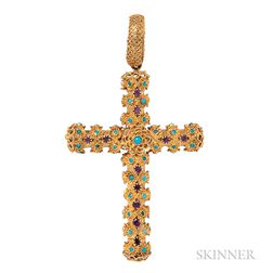 Gold Cannetille-work Cross