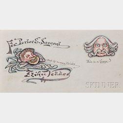 Vedder, Elihu (1836-1923) Original Drawings and Poems.