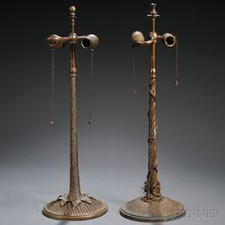 Two Table Lamp Bases Attributed to John Morgan & Sons