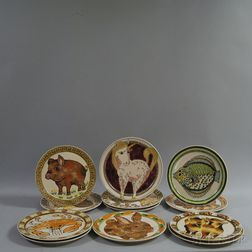 Set of Twelve Rothwoman Stoneware Dinner Plates