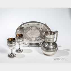 Four-piece Tiffany & Co. Sterling Silver Drinking Suite