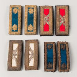 Four Pairs of Officer's Shoulder Straps