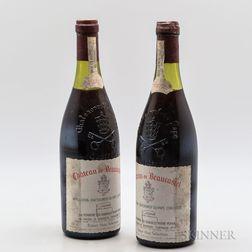 Chateau Beaucastel Chateauneuf du Pape 1972, 2 bottles