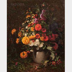 John Joseph Enneking (American, 1841-1916)      Mixed Bouquet