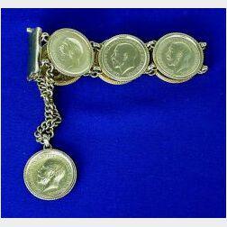 18kt Gold Coin Bracelet