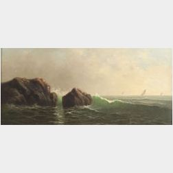 George McConnell (American, 1852-1929)  Seascape.
