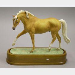 Royal Worcester Bone China Palomino Stallion