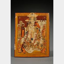 Southern Russian Icon Depicting Christ's Descent from the Cross